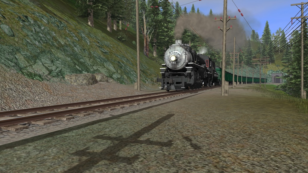 Steam Community :: Screenshot :: SP #743 steams by in the hillsides