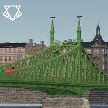 Szabadság híd [Liberty Bridge] - Budapest, Hungary