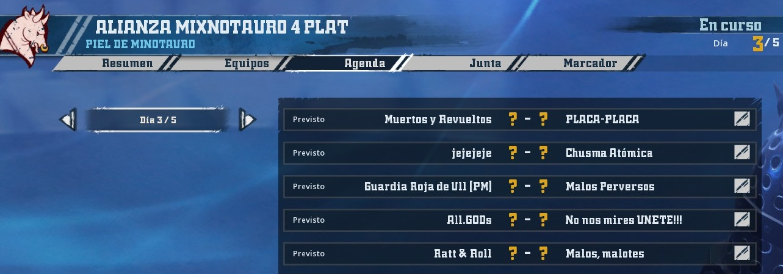 Liga Alianza Mixnotauro 4 - División Cuerno de Plata / Jornada 3 - hasta el domingo 26 de enero 857BF8A7BCBA76ED97B9F9494EE14D46C3A1CA20