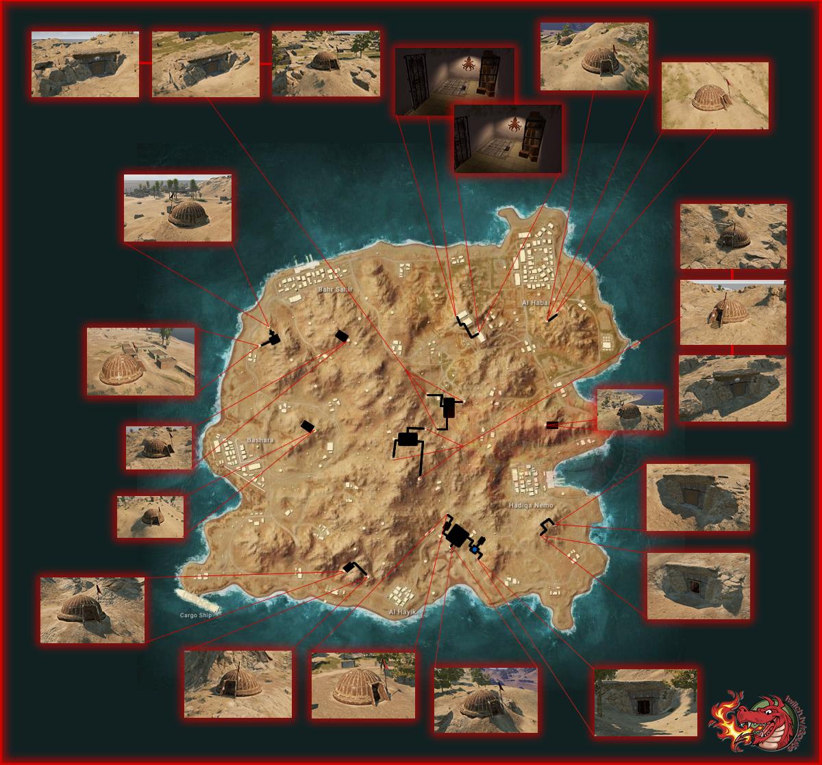 Карта Подземелья Каракина в PLAYERUNKNOWN'S BATTLEGROUNDS
