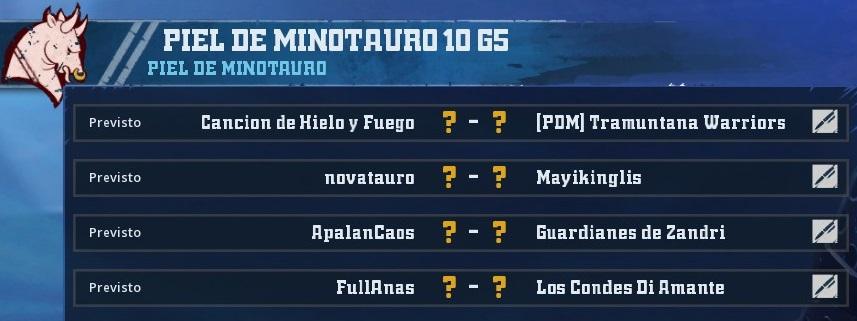 Campeonato Piel de Minotauro 10 - Grupo 5 / Jornada 2 - hasta el domingo 1 de Marzo 9F54953F70D8DF1B57BE1F2A2A1BC5D49FEA5A4D