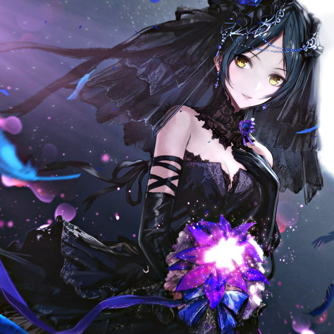 Steam Workshop Anime Girl With Yellow Eyes And Dark Hair