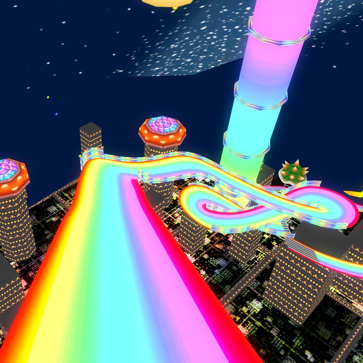 Steam Workshop Rainbow Road Mario Kart Double Dash