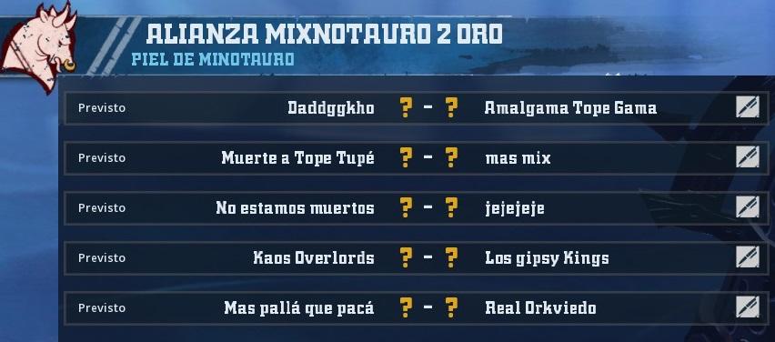 Liga Alianza Mixnotauro 2 - División Cuerno de Oro / Jornada 5 - hasta el domingo 30 de junio DAA8D4E128A491F72761D3ABC1175EAD7647E268