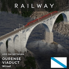 Railway Ourense Viaduct (Wired)