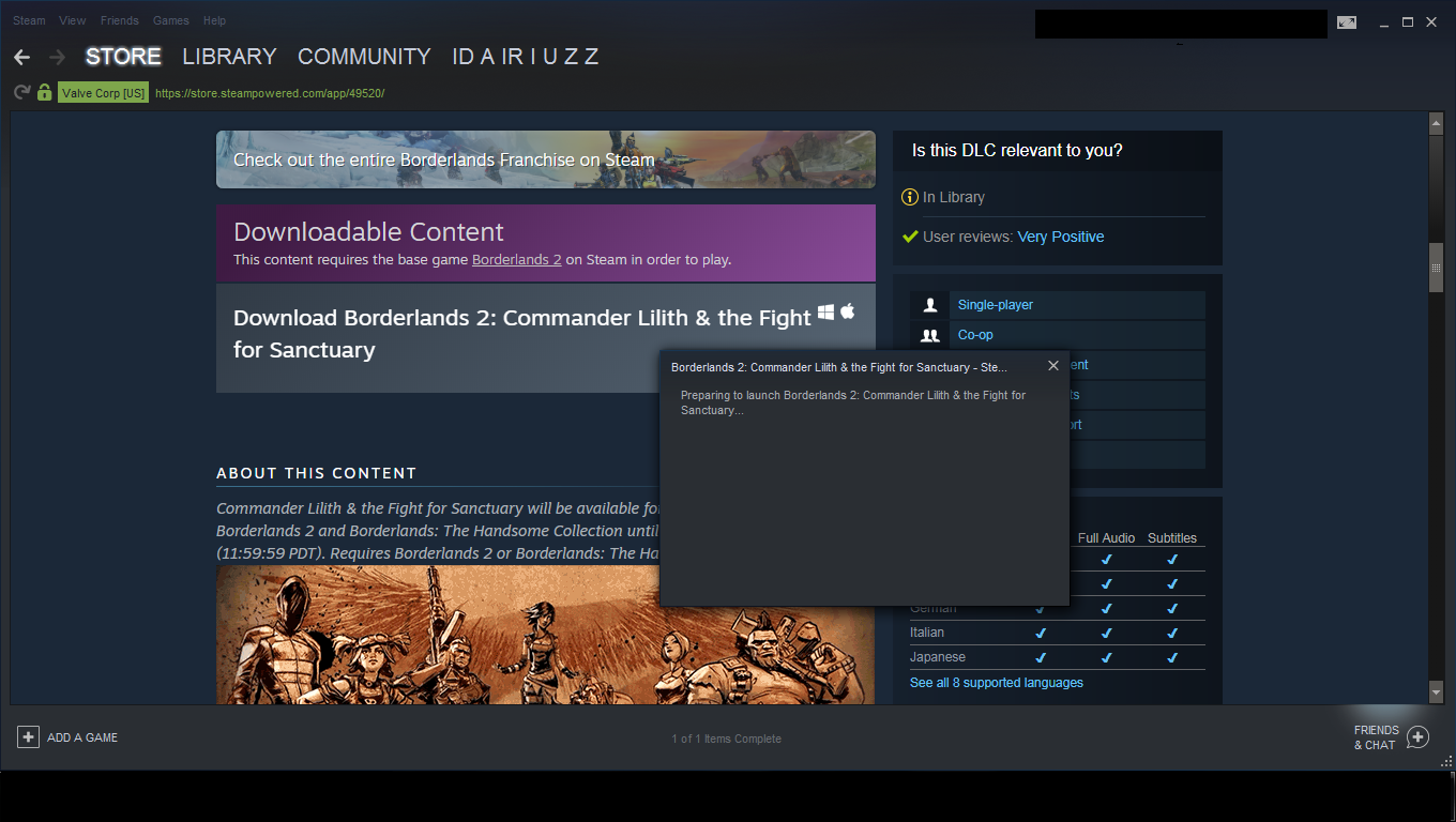 Steam Community :: Guide :: Commander Lilith DLC Not Installing FIX