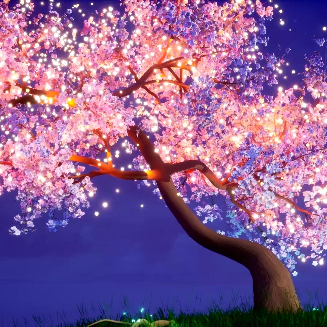 Steam Workshop Glowing Cherry Blossom Tree