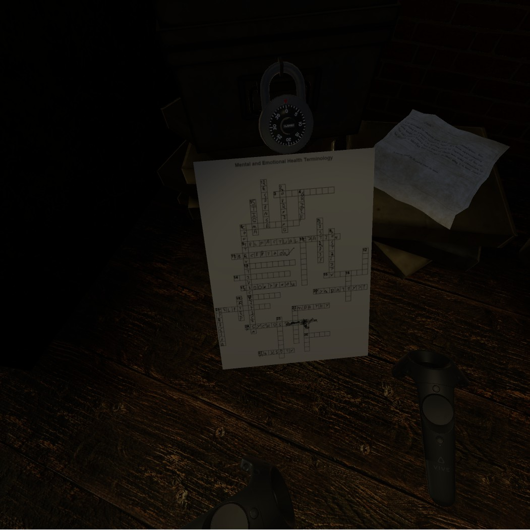 Steam community guide chapter 1 house in the woods this box is locked with a combination lock which youll need to find the combination for using the crossword puzzle laying on top of it kristyandbryce Choice Image