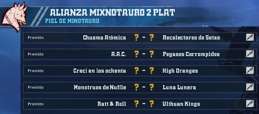 Liga Alianza Mixnotauro 2 - División Cuerno de Plata /Jornada 5 - hasta el domingo 30 de junio 2787F4632166C72C15E1F4A56E044D1E766044C5