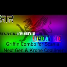 Griffin Combo Black and White for Scania Next Gen and Krone Coolliner