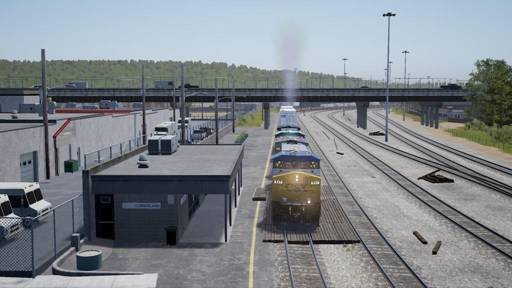 Steam Community :: Screenshot :: CSX Intermodal train Q115 proceeds
