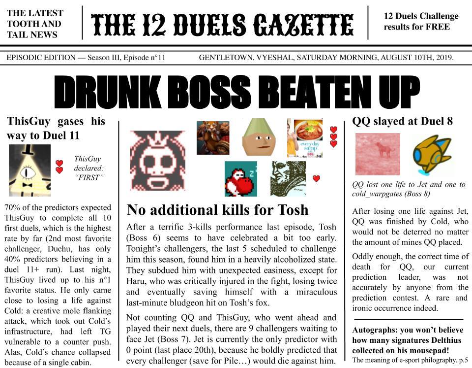Steam Community :: :: 12 Duels Gazette - Episode 11