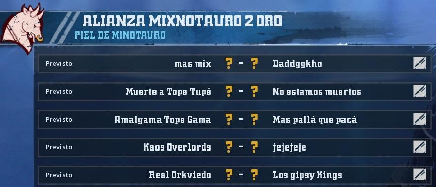 Liga Alianza Mixnotauro 2 - División Cuerno de Oro / Jornada 4 - hasta el domingo 16 de junio 8710C68FDDAEED05292E160AB9EC1610FB29179D