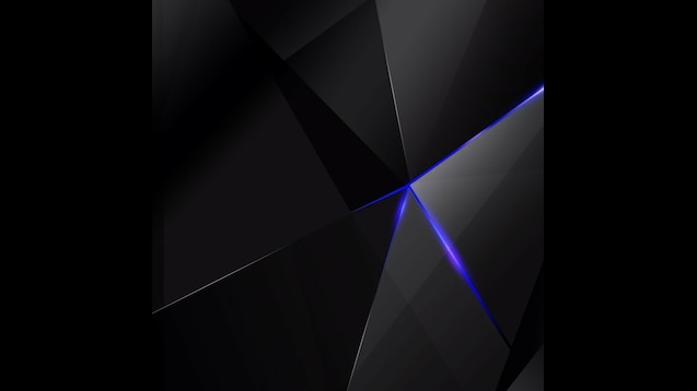 Steam Workshop Black Polygon With Blue Edges Abstract Hd