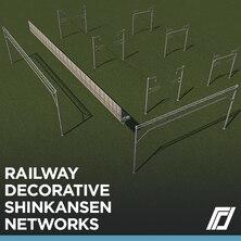Railway Shinkansen Decorative Networks