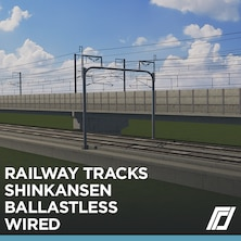 Railway Shinkansen Ballastless Wired