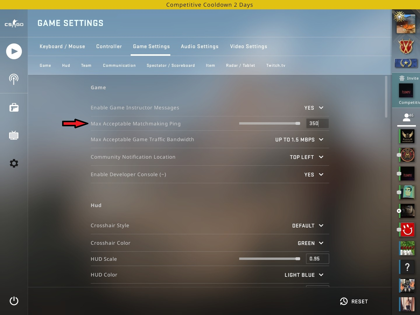 Impossible de se connecter au serveur de matchmaking CSGO