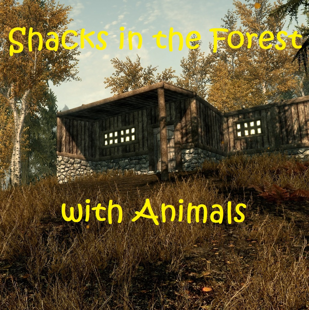 Shacks in the Forest with Animals画像