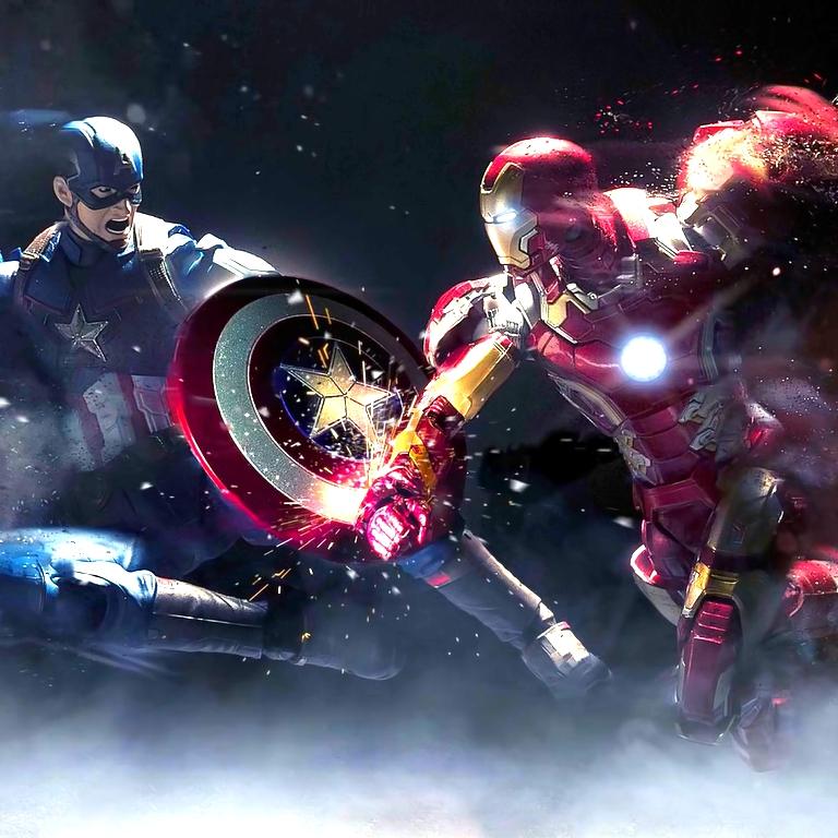 Steam Workshop Captain America Vs Iron Man Animated Wallpaper