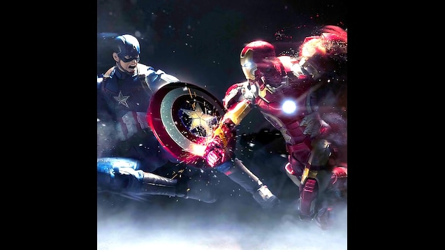Steam Workshop Captain America Vs Iron Man Animated Wallpaper