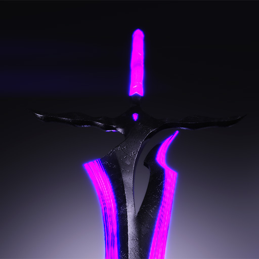 Crystal Edge - 1h and 2h Glowing Sword画像