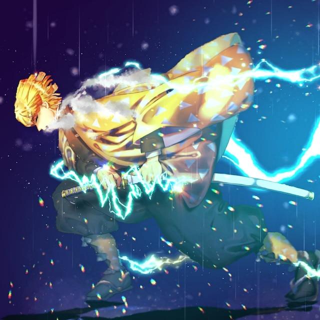 Kimetsu No Yaiba Zenitsu Thunder Clap And Flash Wallpaper