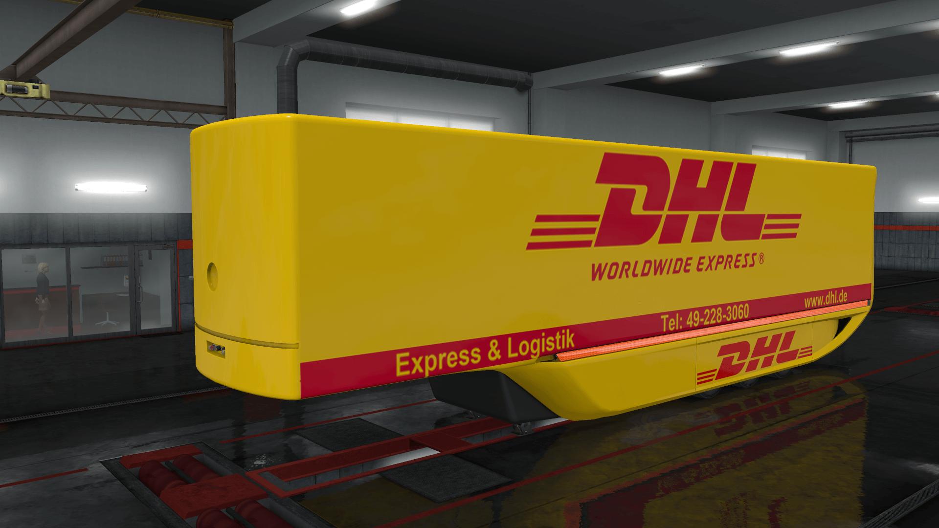 DHL MB Aerodynamic Trailer skin