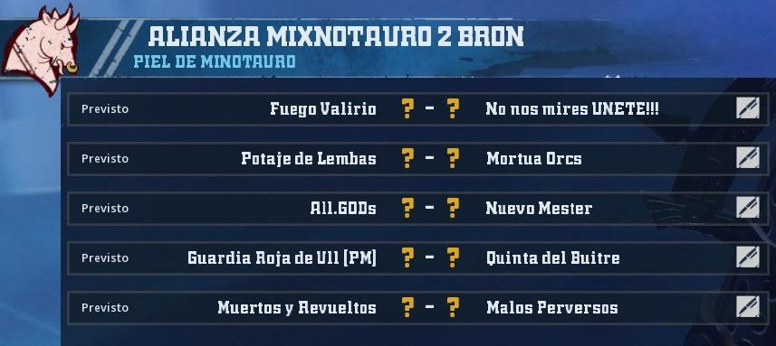 Liga Alianza Mixnotauro 2 - División Cuerno de Bronce / Jornada 2 - hasta el domingo 19 de mayo 90704051DF9912EA5FF06FD5C7546A311F68D9EE