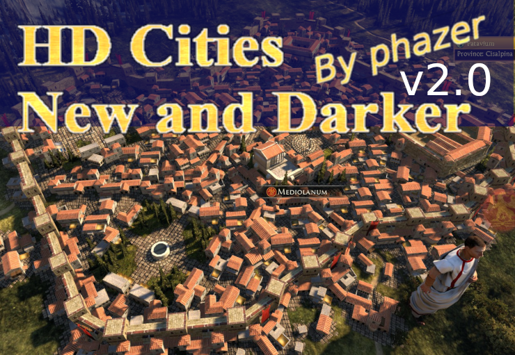 HD Cities v2.0: Darker colors WITH new Barbarian Cities [DeI+all Campaigns+DLC]