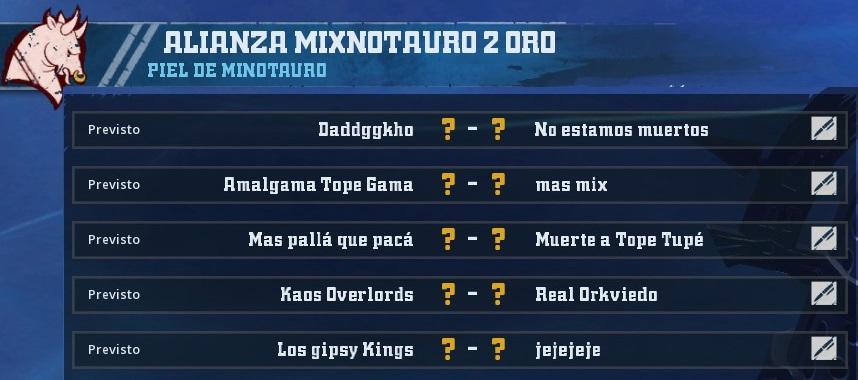 Liga Alianza Mixnotauro 2 - División Cuerno de Oro / Jornada 3 - hasta el domingo 2 de junio 09370FF55B0C1FD9736C936E37D92D82AE98FB82