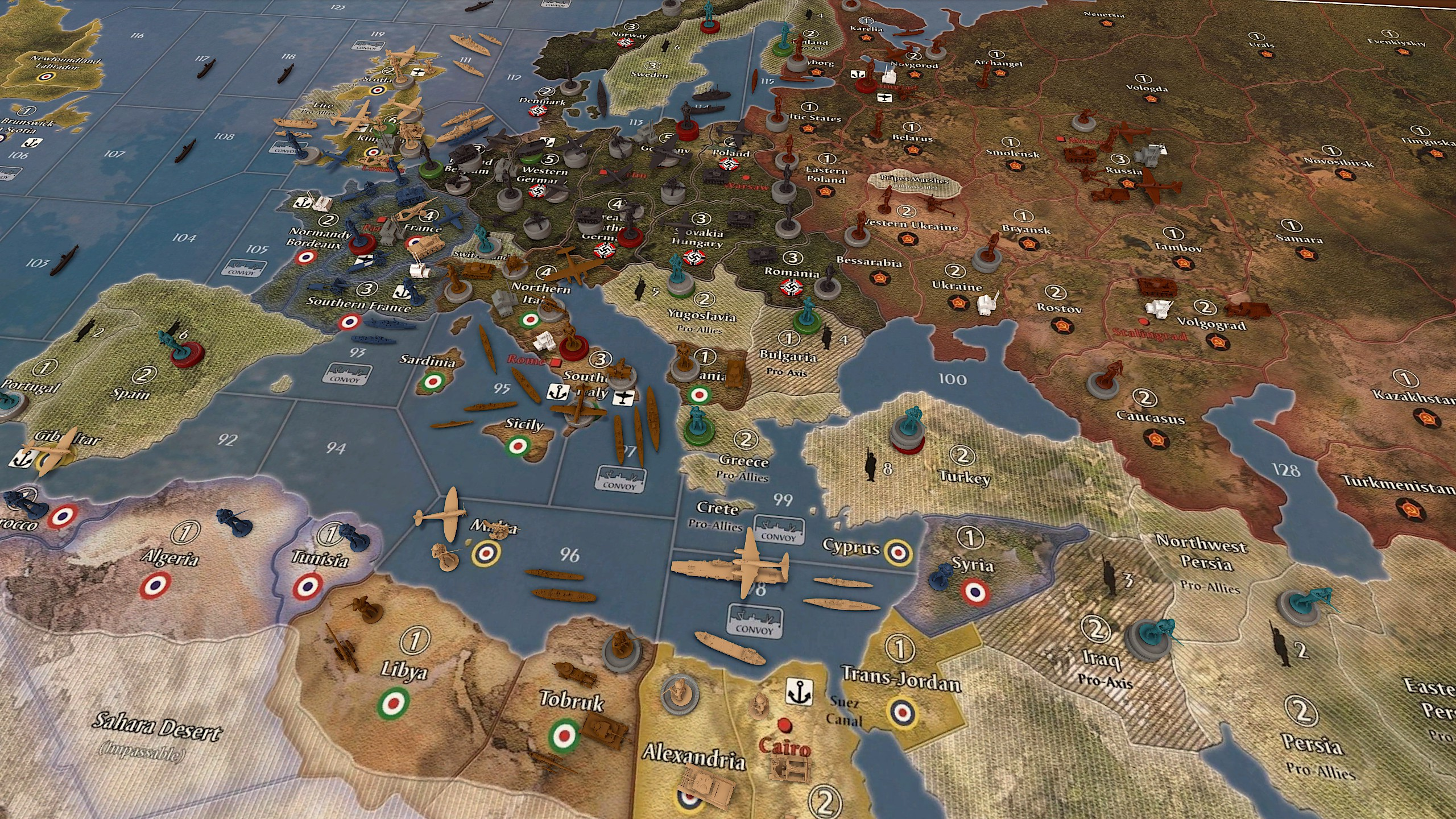 Game Table Online Axis And Allies | Decoration Items Image