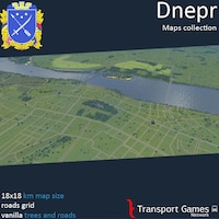 Dnepr (Dnepropetrovsk) with roads grid