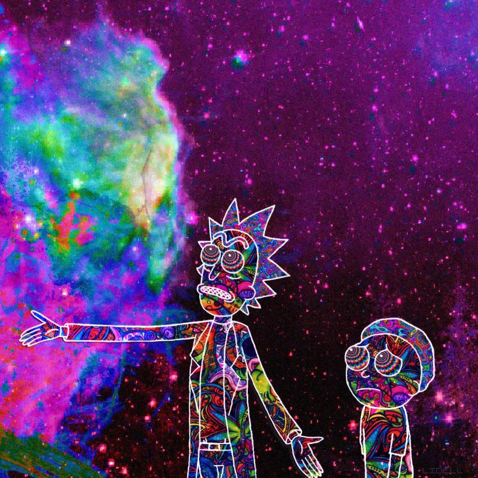 Steam Workshop Trippy Rick And Morty Wallpaper Sound Reactive