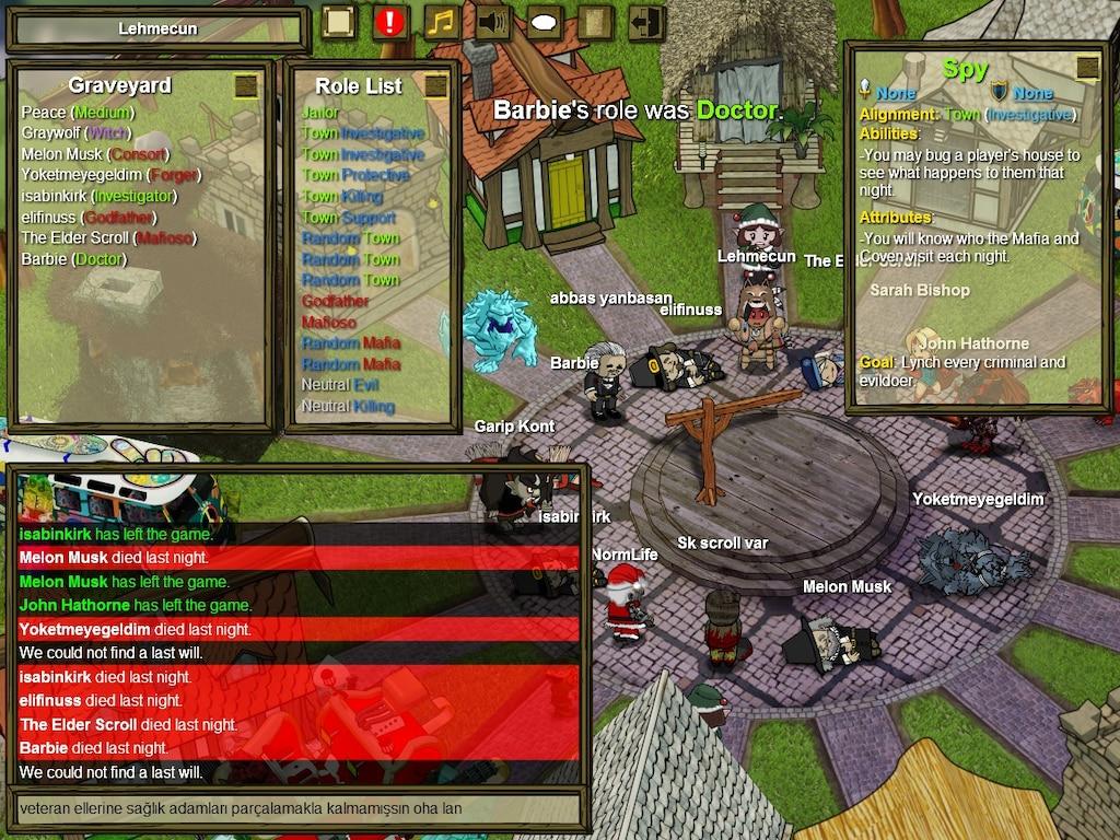 Steamin yhteisö :: Town of Salem