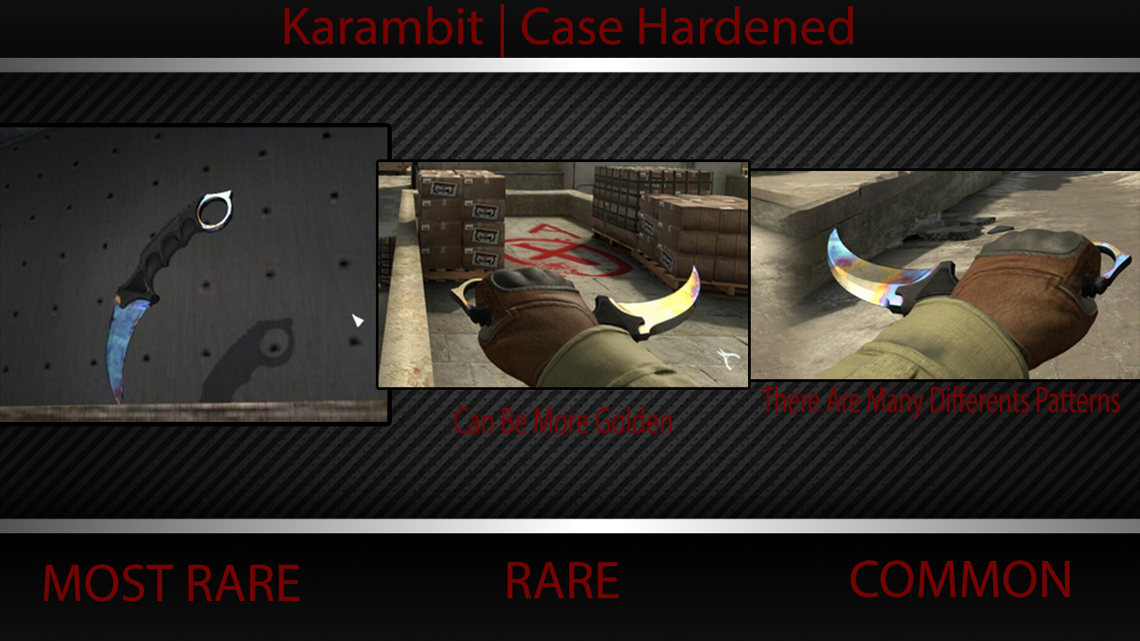butterfly knife case hardened mw