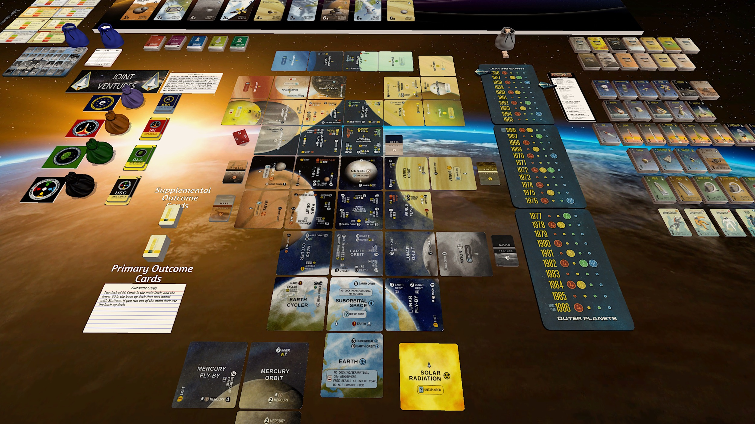 Lumenaris Boardgame  Leaving Earth w//Mercury Expansion New