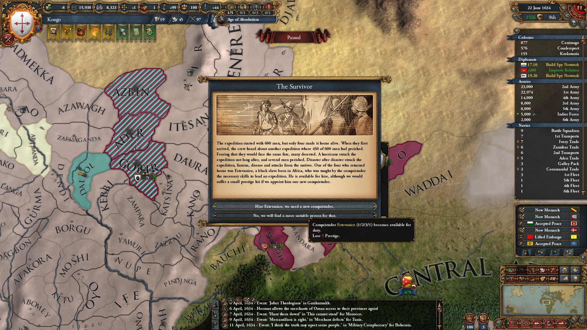 African, taking prestige hit to hire an African | Paradox