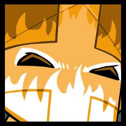 Orange Knight Castle Crashers shot glass