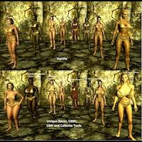 Unique Races Females 1.0画像