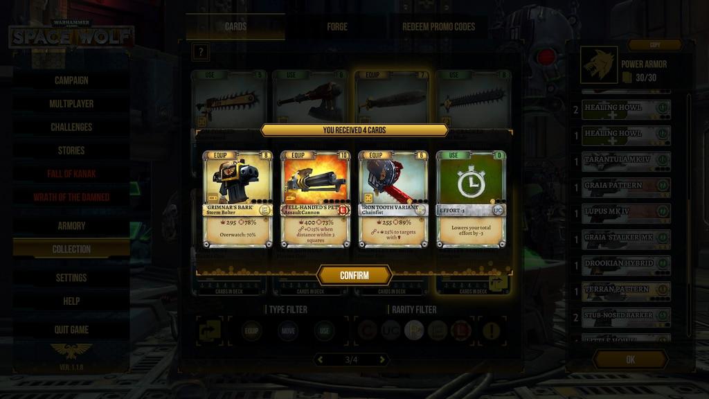 Steam Community :: Screenshot :: Promo code Wolf Guard Terminator Set