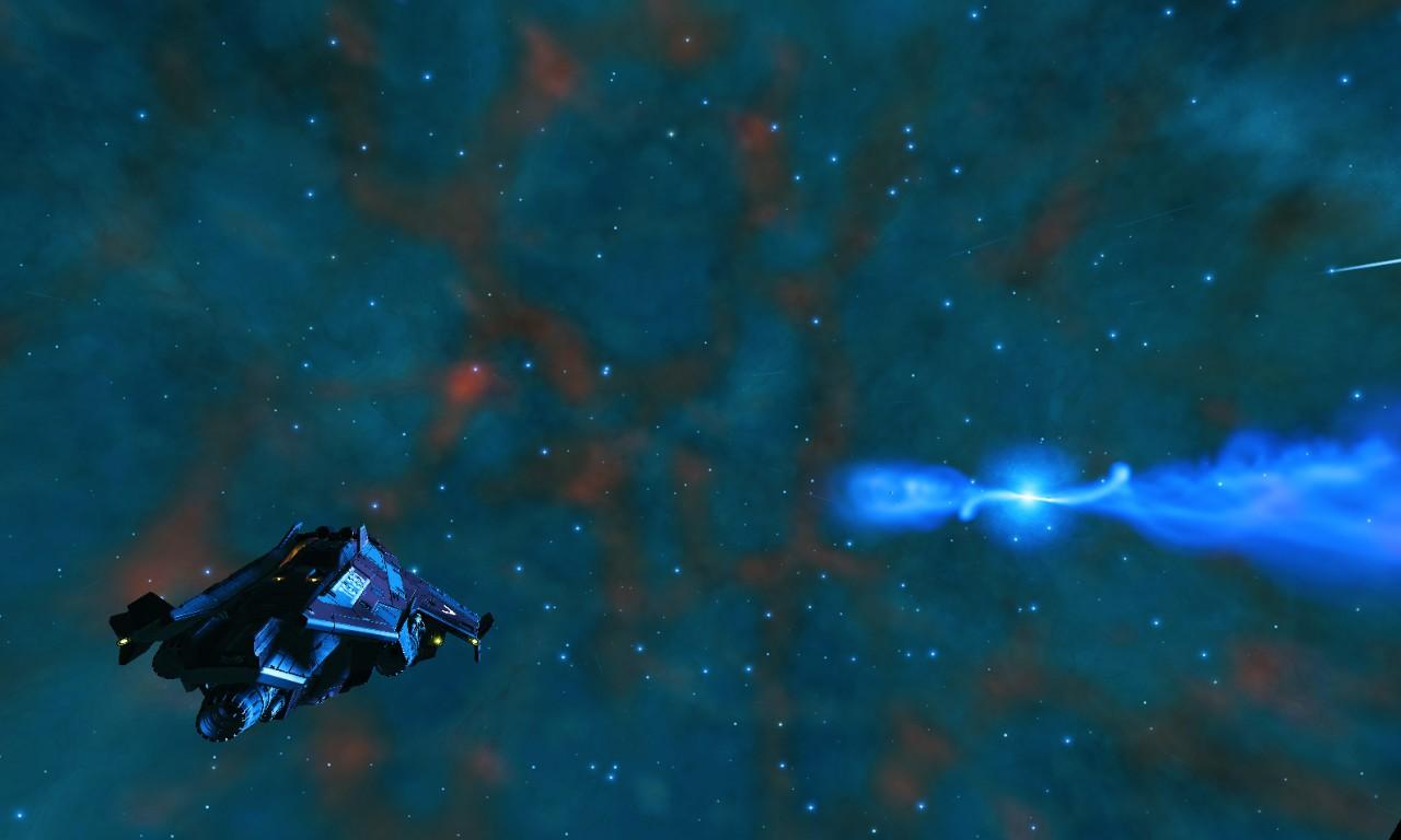 Une étoile à neutron au milieu d'une nébuleuse
