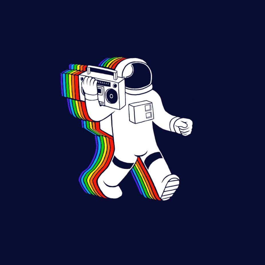 Steam Workshop Animated Pubg Wallpaper: Steam Workshop :: Rainbow Spaceman Animated Wallpaper