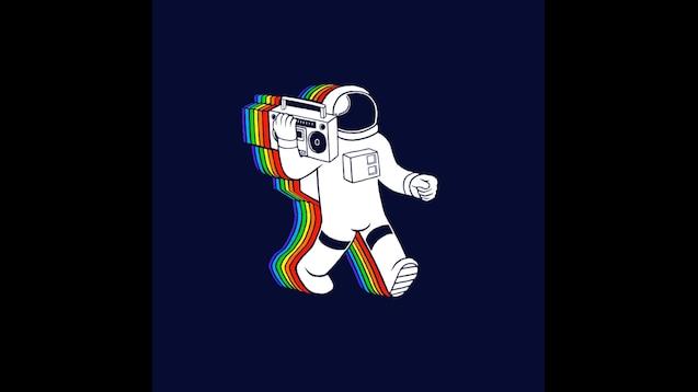 Steam Workshop Rainbow Spaceman Animated Wallpaper