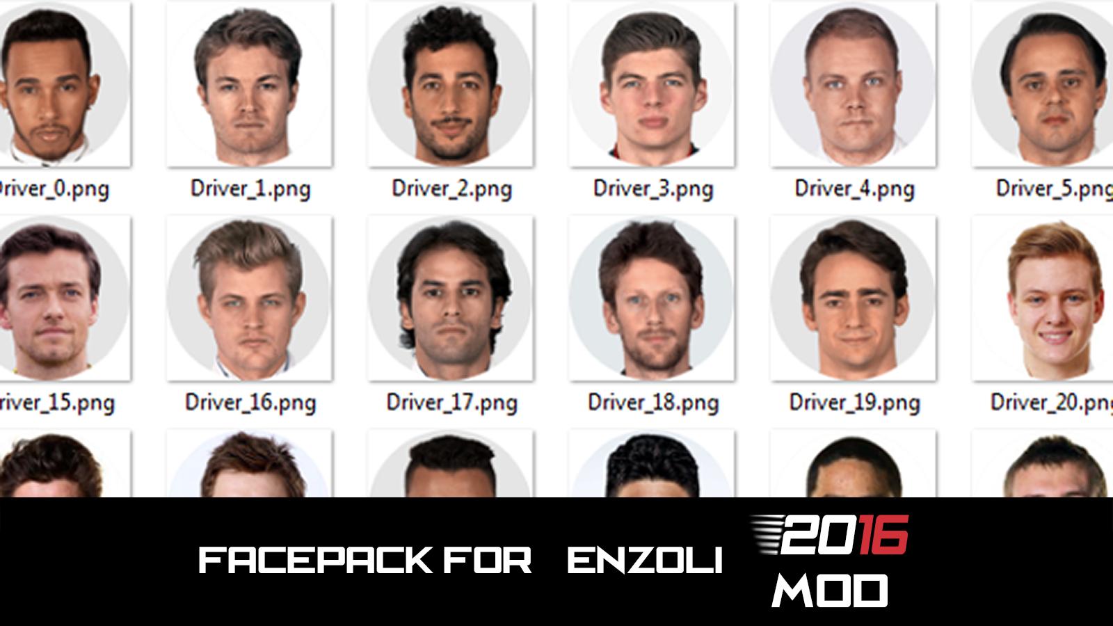 Enzoli's Facepack for 2016 Mod