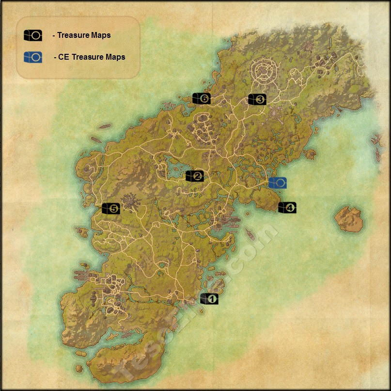 Glenumbra Treasure Map 3 Steam Community :: Guide :: Treasure Maps Guide