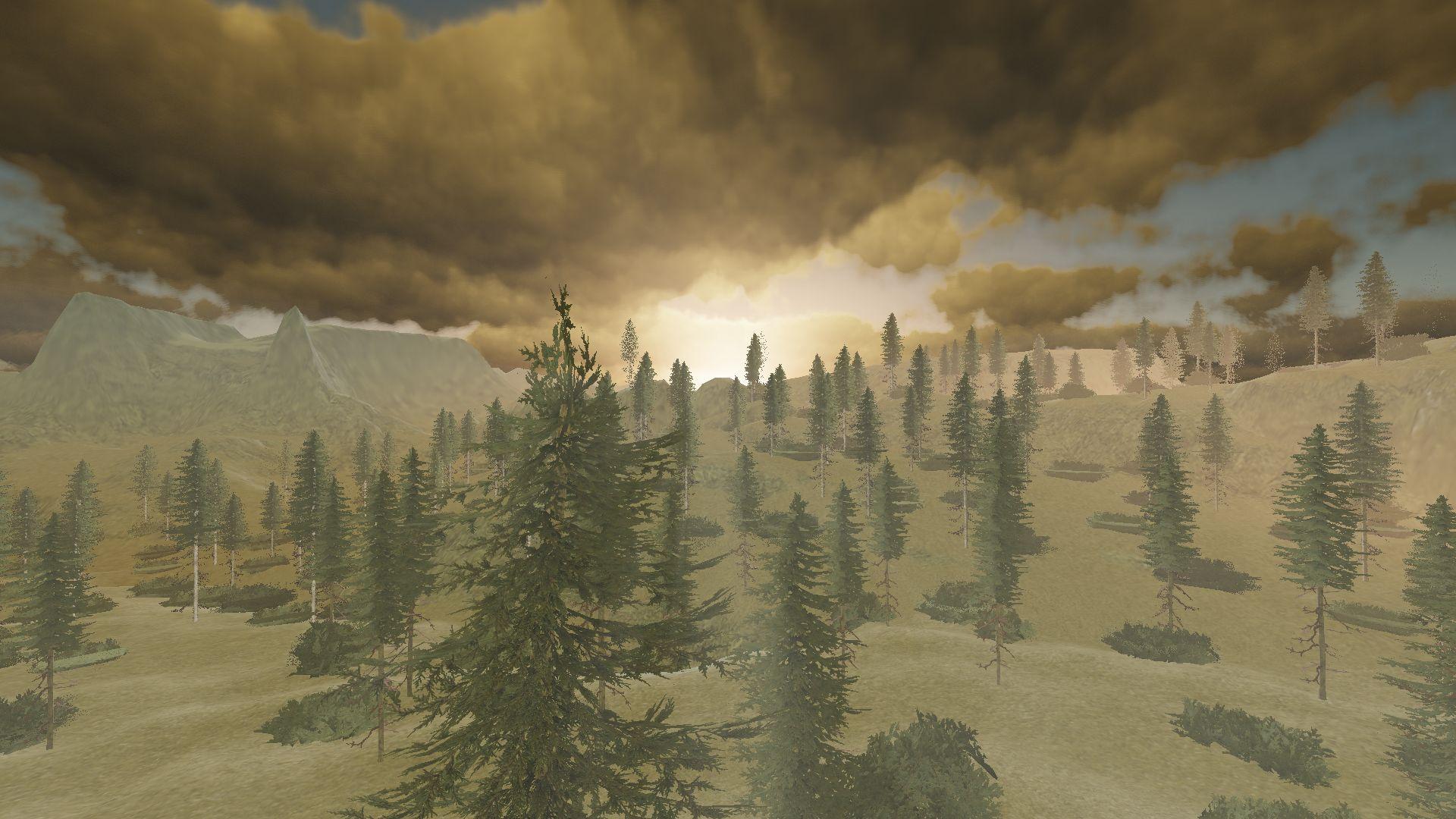 Screenshot - volumetric clouds atmospheric scattering 2