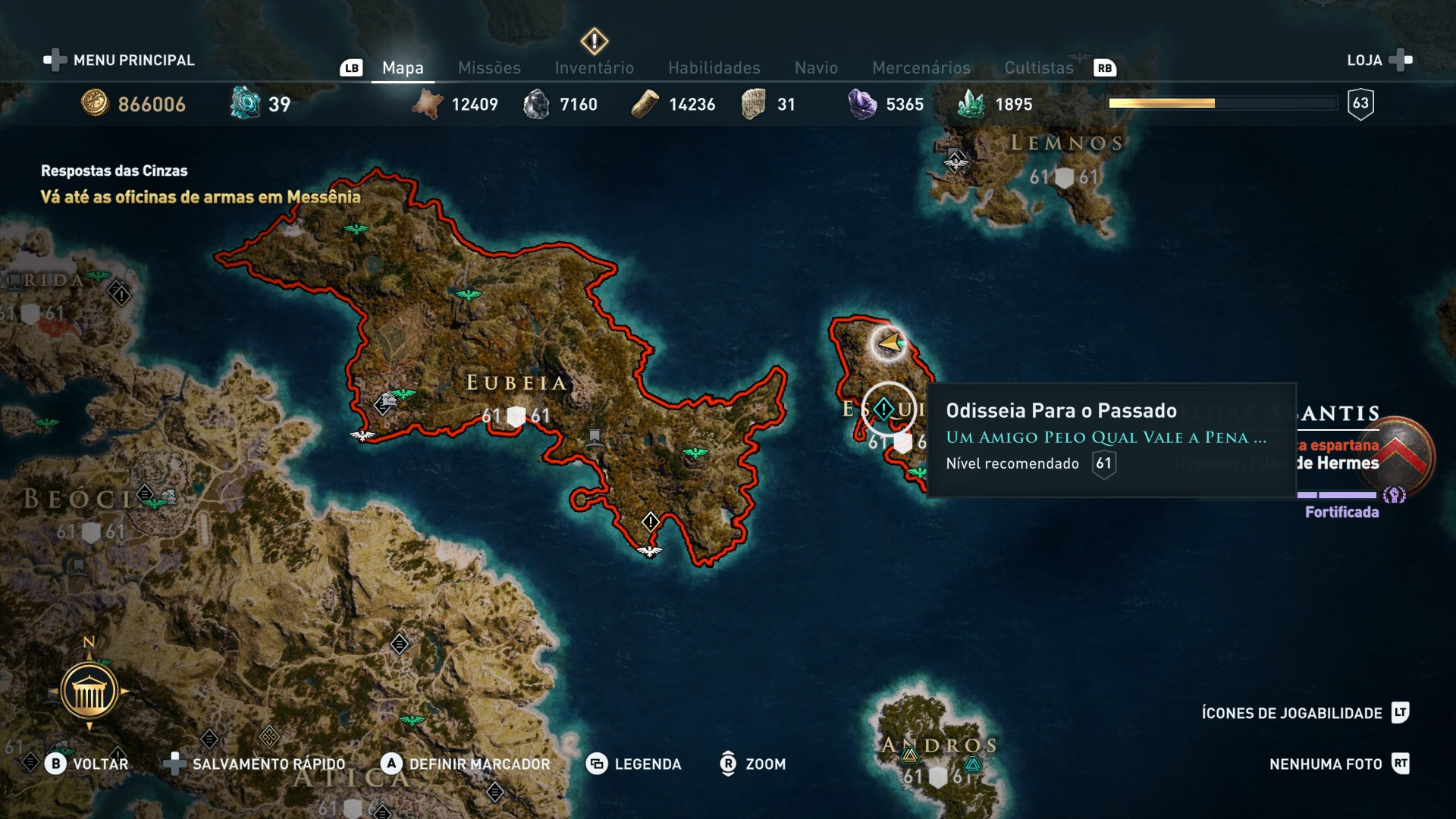 assassins creed odyssey medusa quest bug