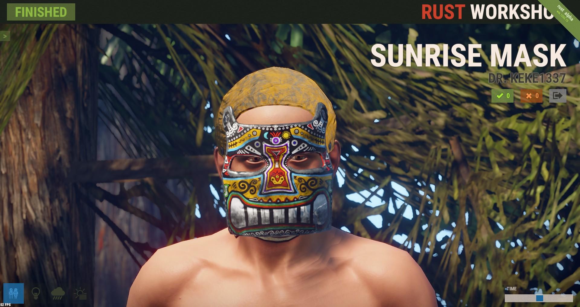 Steam Work Sunrise Mask