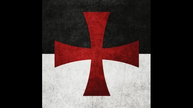 "Knights Templar Beauseant Crusader Battle Flag 5/"" x 3/"" Nylon"