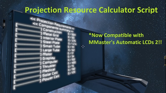 Steam Workshop :: Projection Resource Calculator Script
